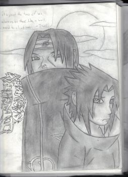 Itachi and Sasuke by Bl4ckst4r88