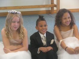 The Kids ( flower girls and ring bearer) by MaddiTheHedgieHog