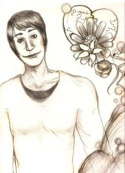 Man and Flowers by Aprentice-Skye