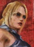 Nina Williams through the eyes of Camille Pissarro by blondebombmag