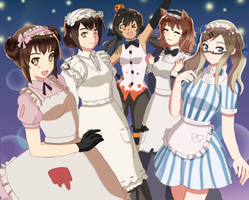 Aph - halloween maids by EvilCoco95