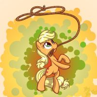 Applejack's roping by LordYanYu