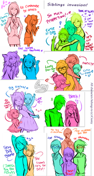 .Siblings Invasion! by xiomicchi