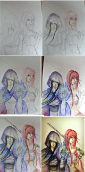 Hin and  Sakura step by step by A-Marry