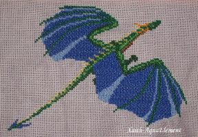 A cross-stitch of dragon by Xaith-AquaElement