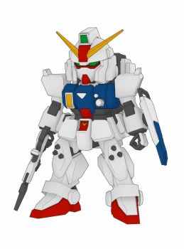 SD RX-79 (G) Gundam Ground Type Free Paper Model by PaperCraftSquare