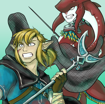 BOTW - Sidlink - Warriors by DyraDoodles