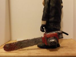 Leatherface Bubba potatohead Chainsaw by Potatoheadmaster