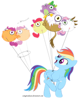 Scoots still can't fly properly by zomgitsalaura