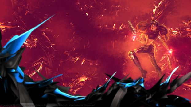 [LoL] Wallpaper - Road Warrior Miss Fortune by sHao-taisa