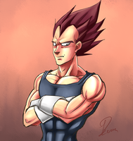 Vegeta colored doodle by lilip25