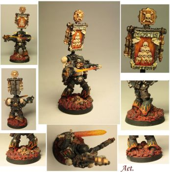 Damned legionaire sergeant with a power sword by Aeteros