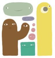 Blob Creatures 2 by Cybbes